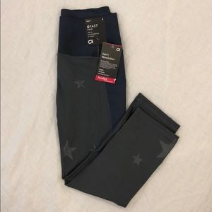 NWT Gap high rise compression star print legging